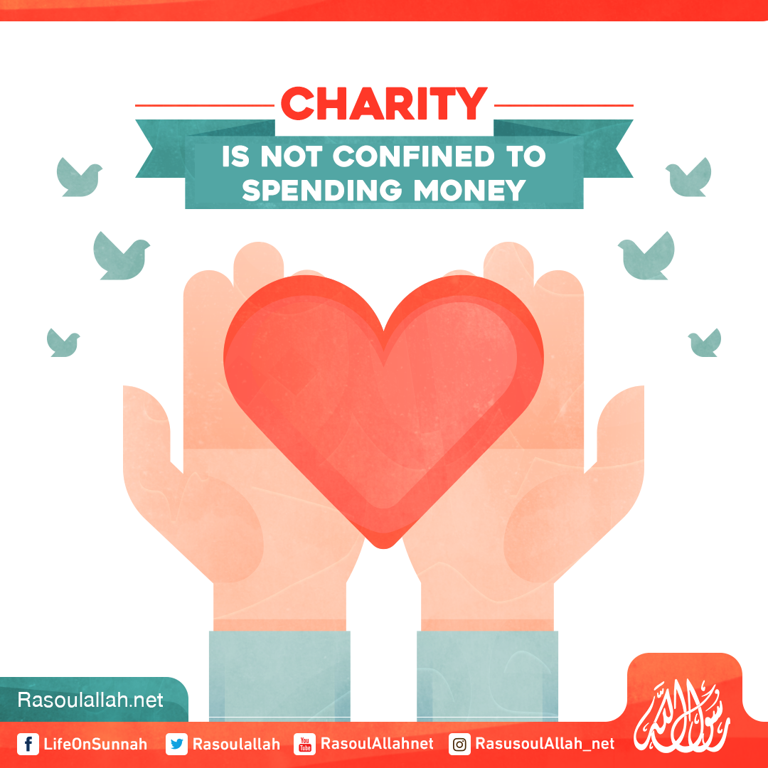 Charity is not confined to spending money