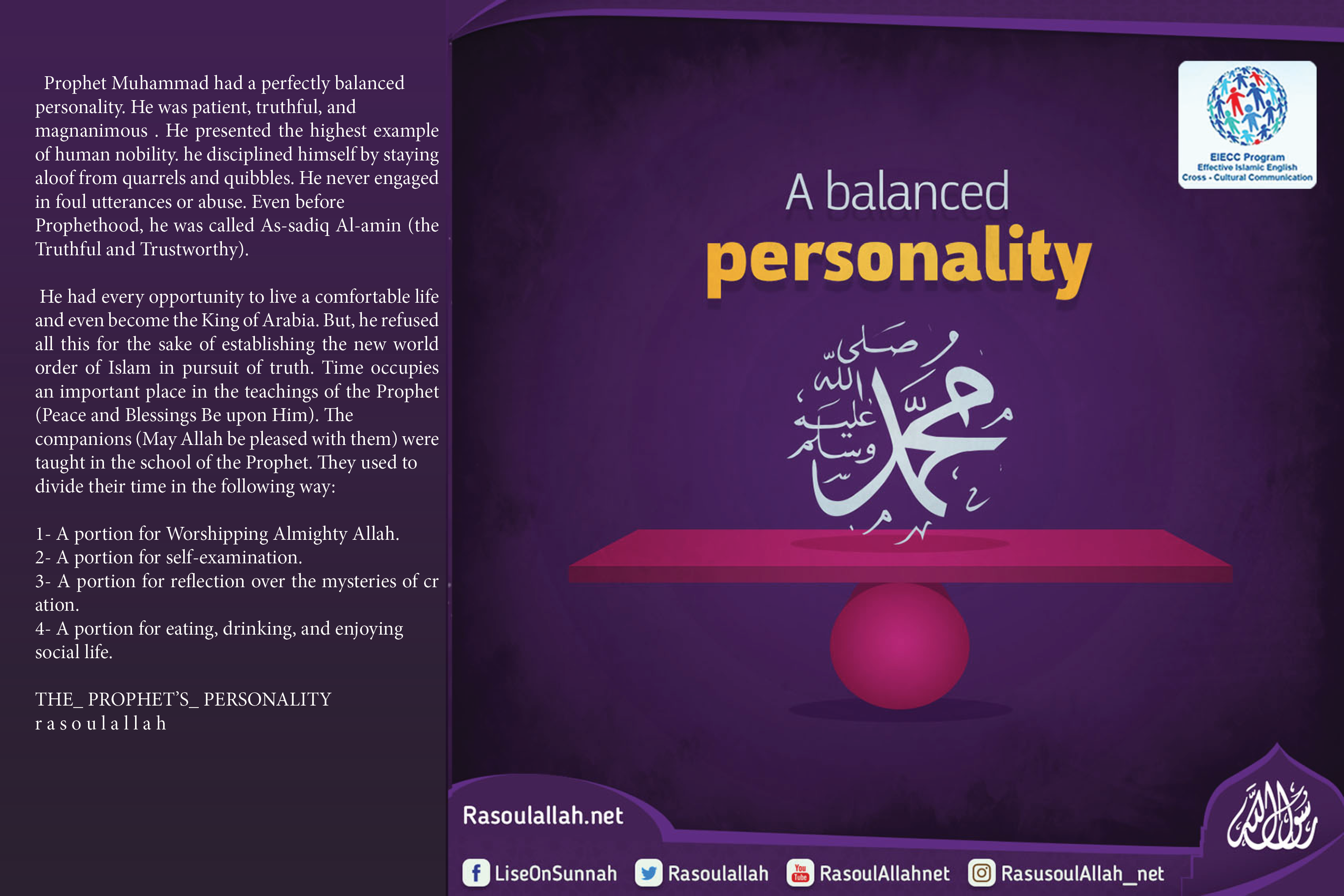 A balanced Personality