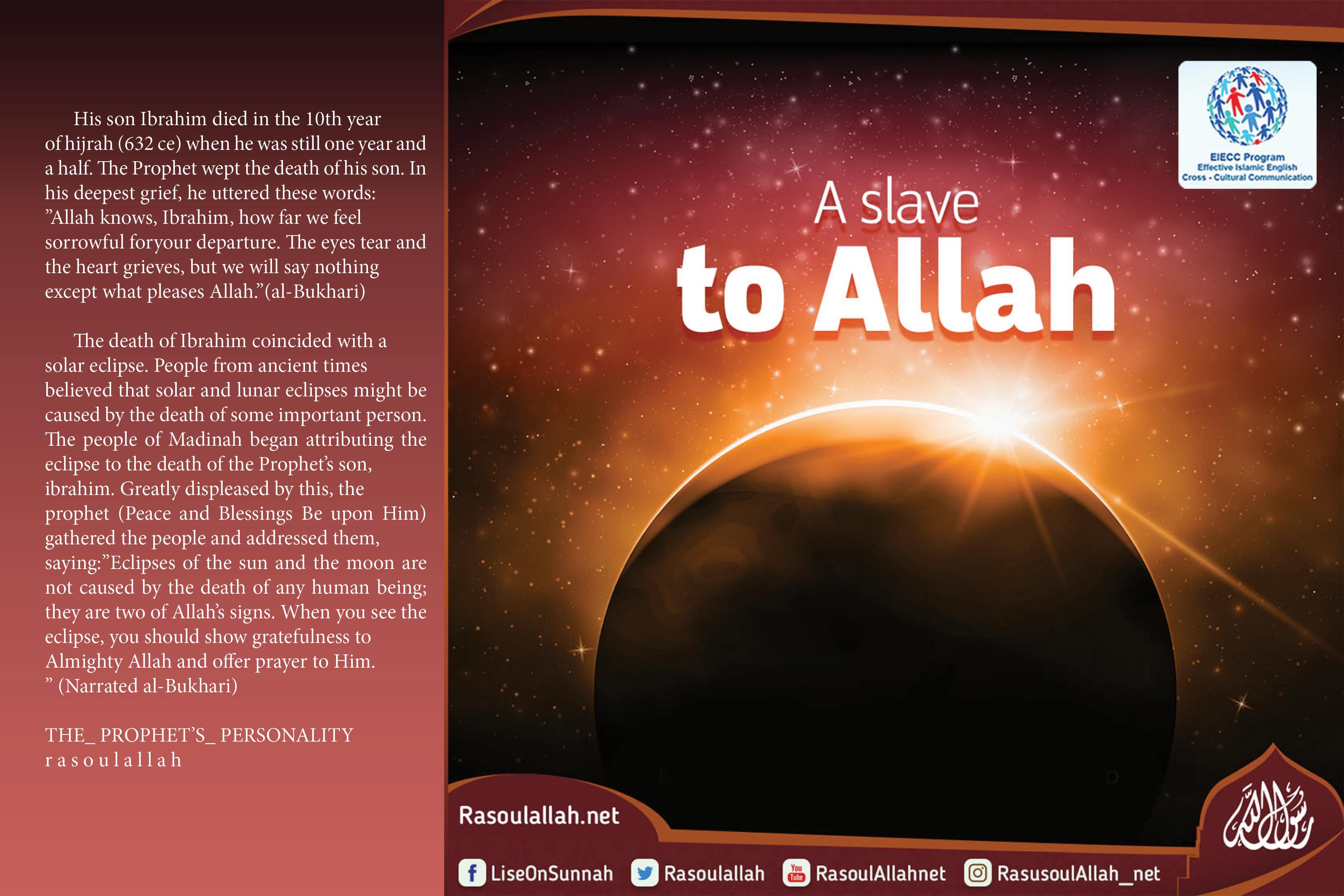 A slave to Allah