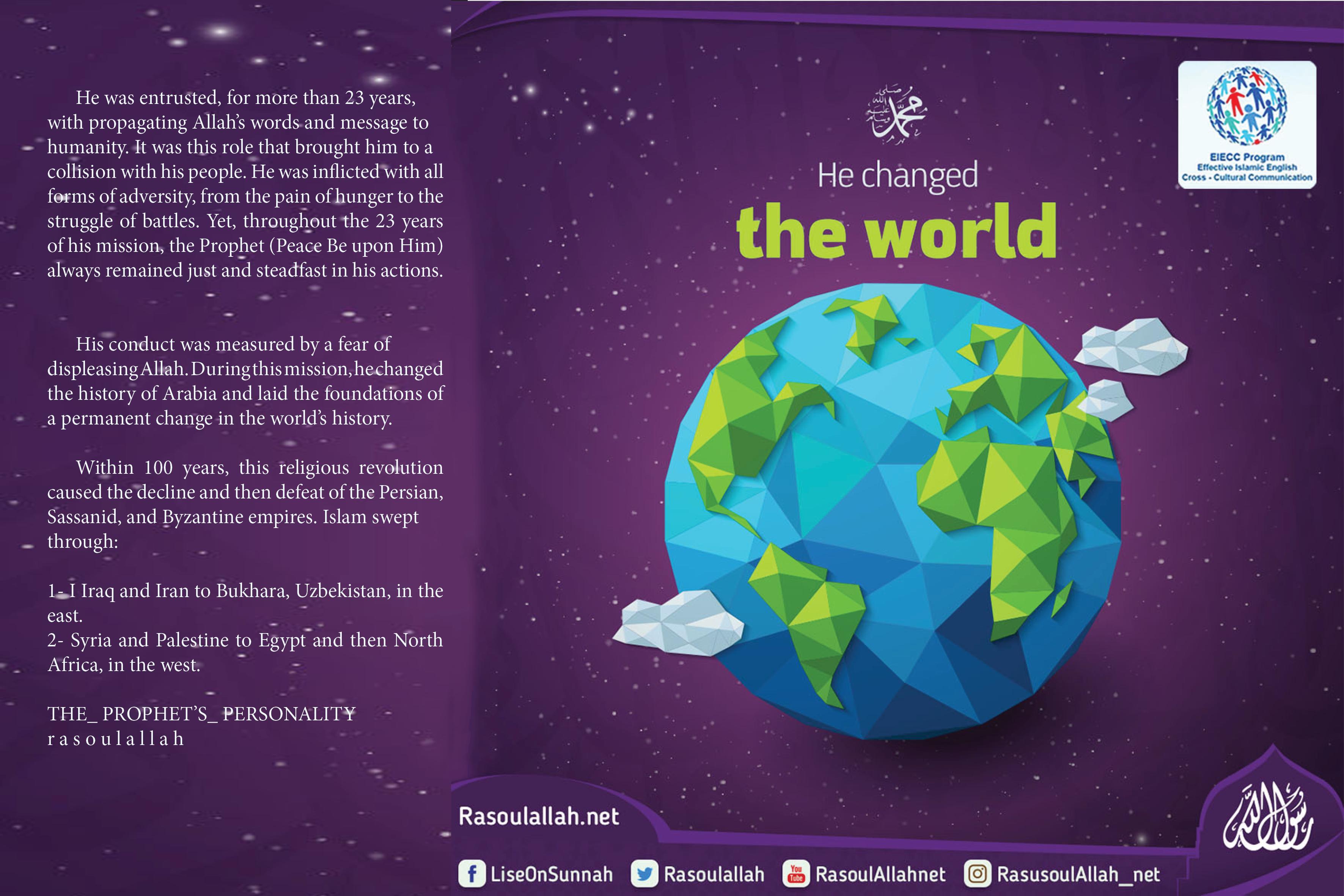 Prophet Muhammad changed the world