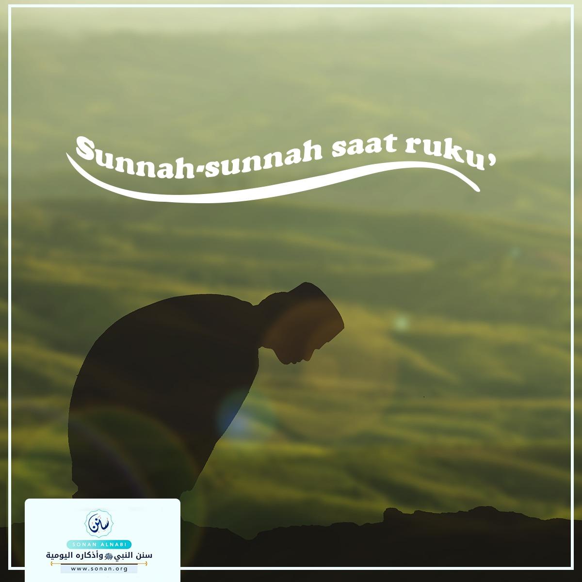 'Sunnah-sunnah saat ruku
